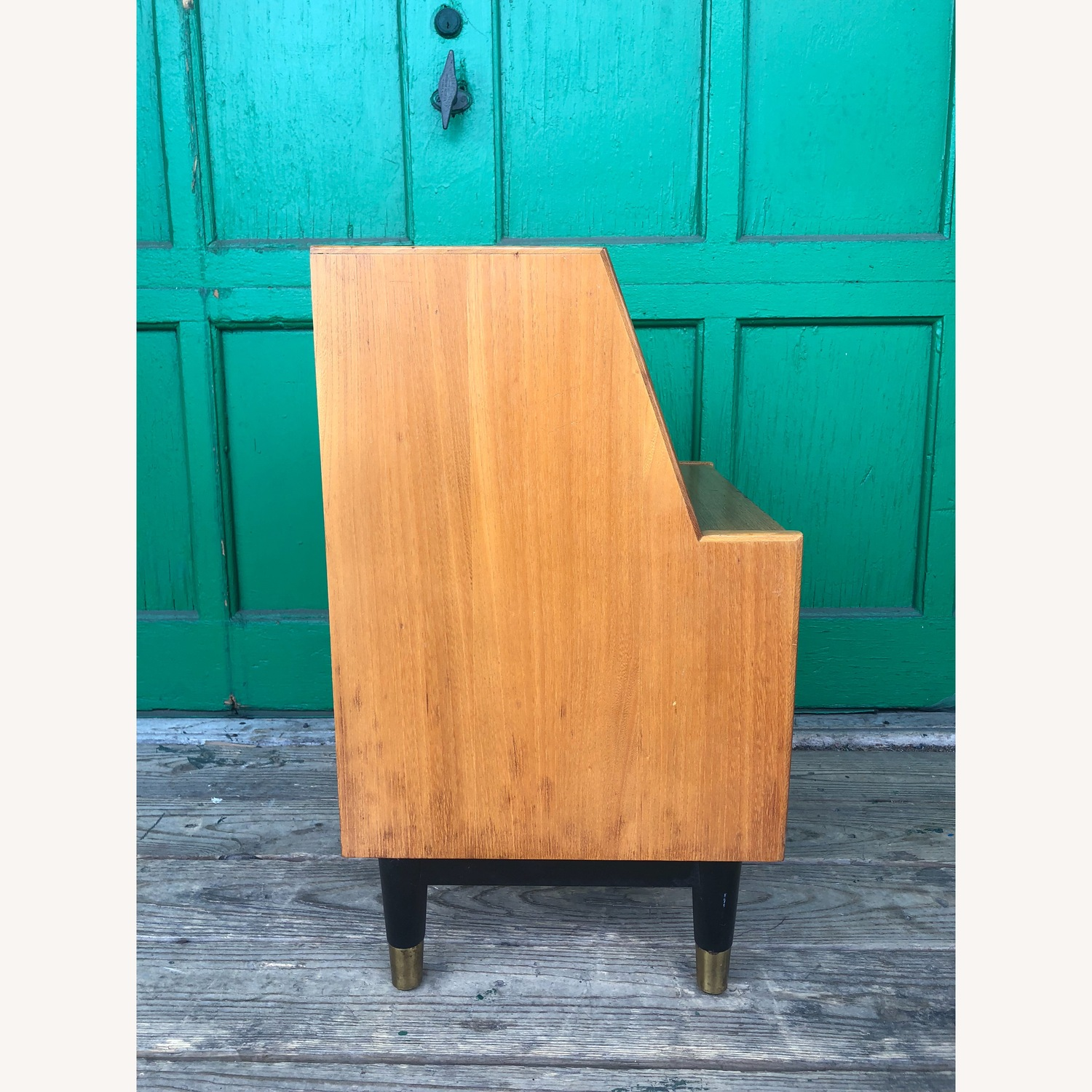 Mid century nightstand with drop front by Drexel - image-6