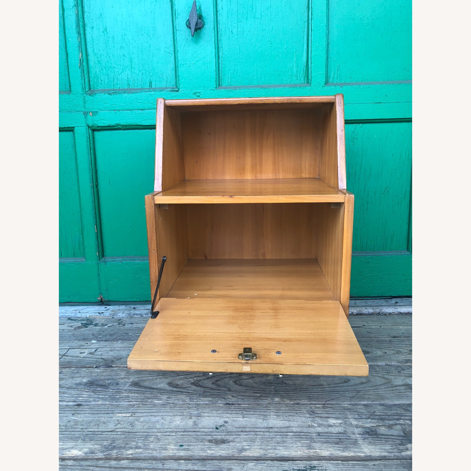 Mid century nightstand with drop front by Drexel - image-1