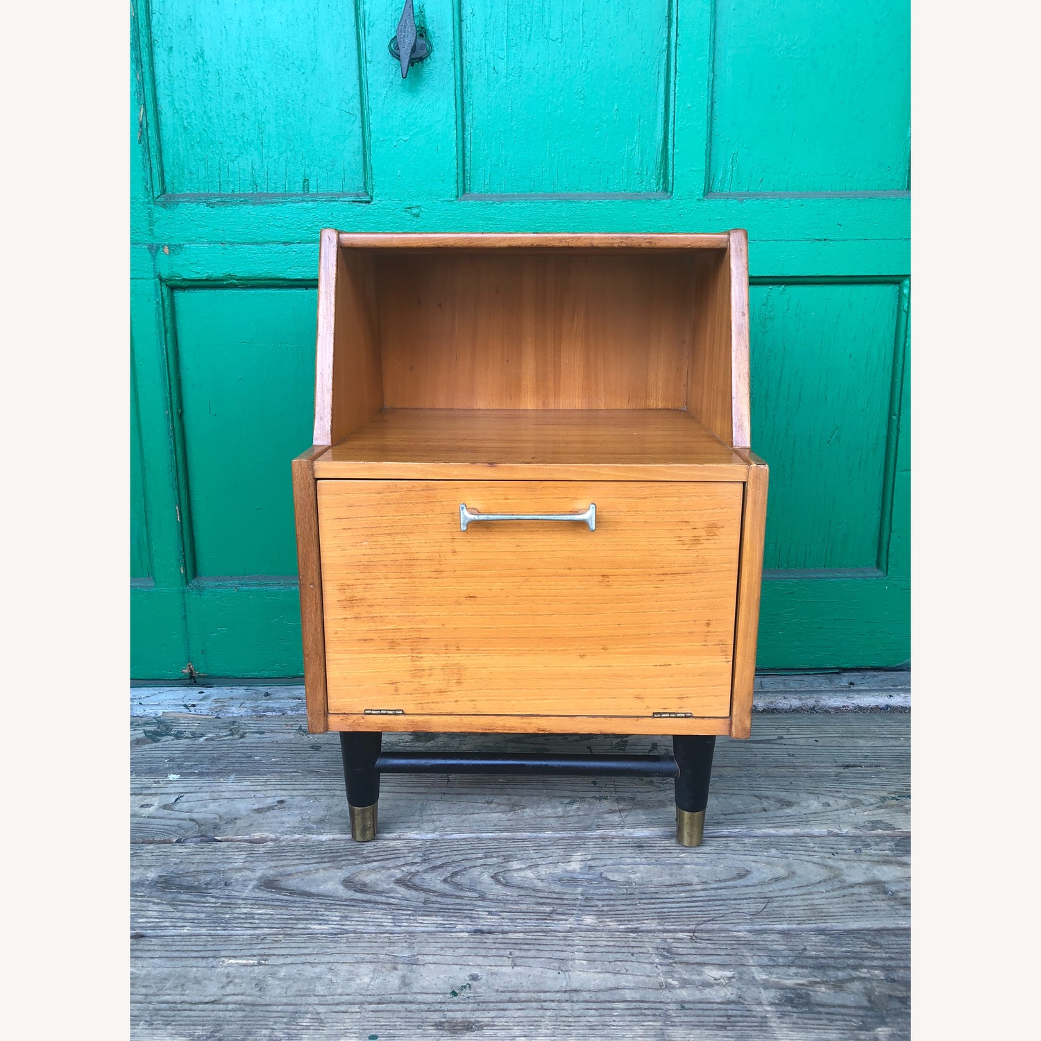 Mid century nightstand with drop front by Drexel - image-2