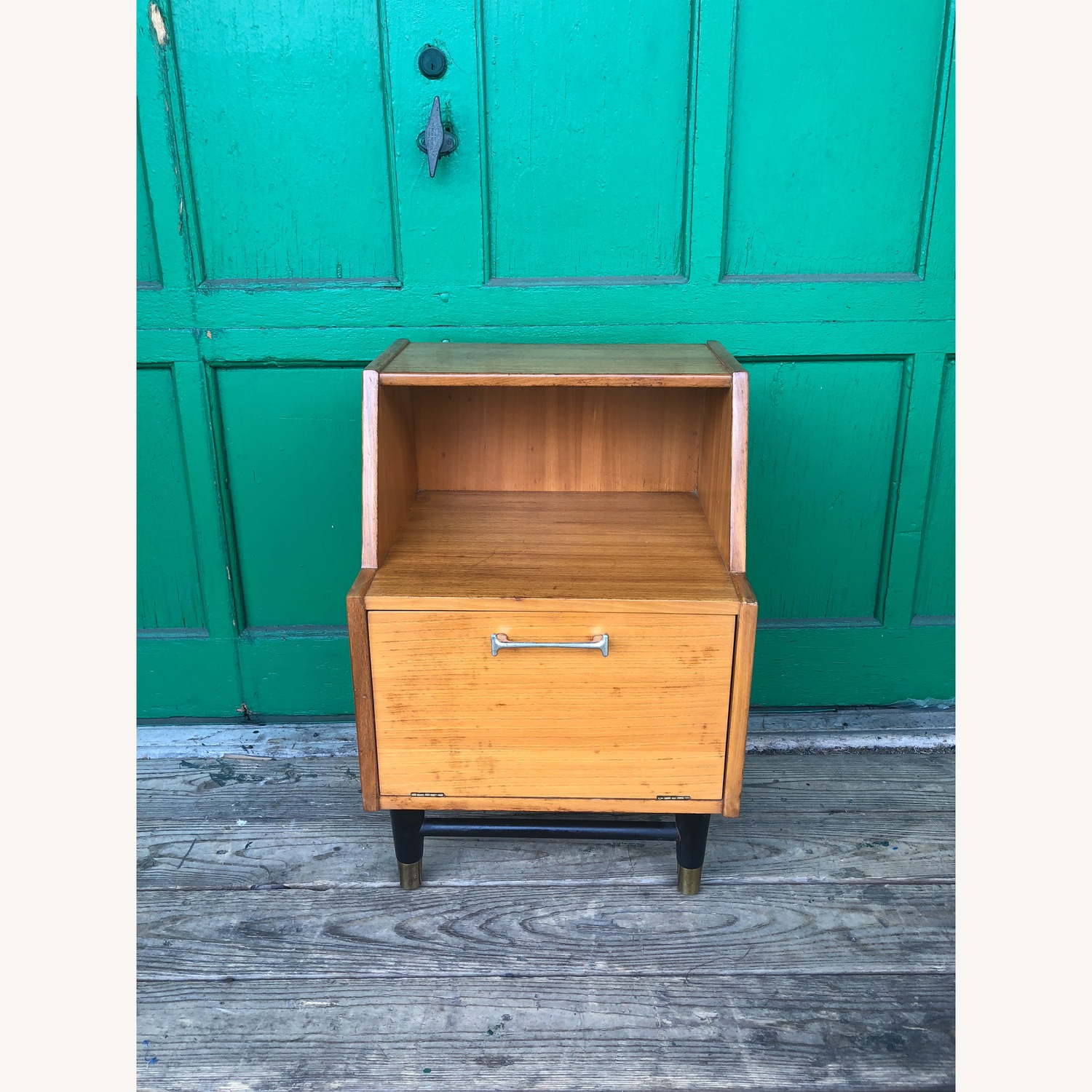 Mid century nightstand with drop front by Drexel - image-3