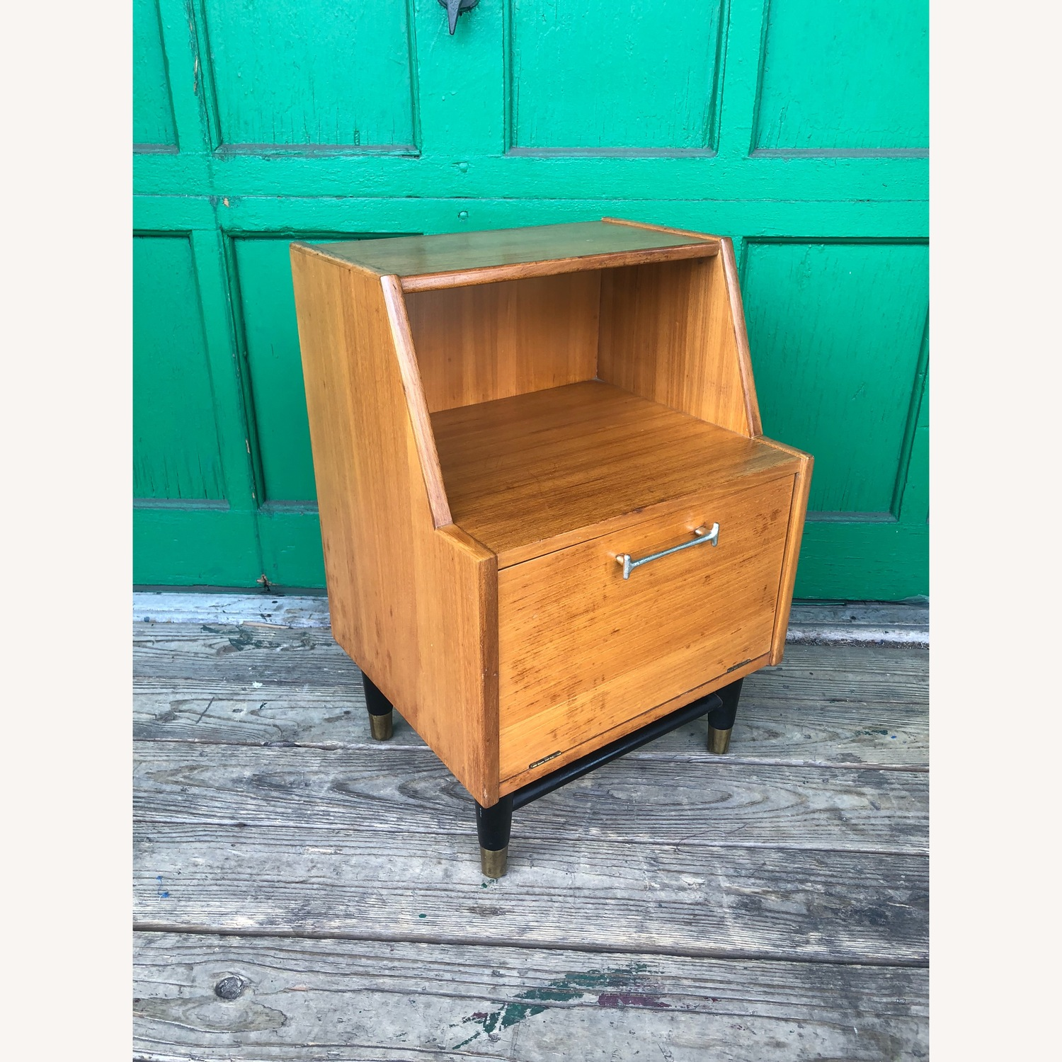 Mid century nightstand with drop front by Drexel - image-4