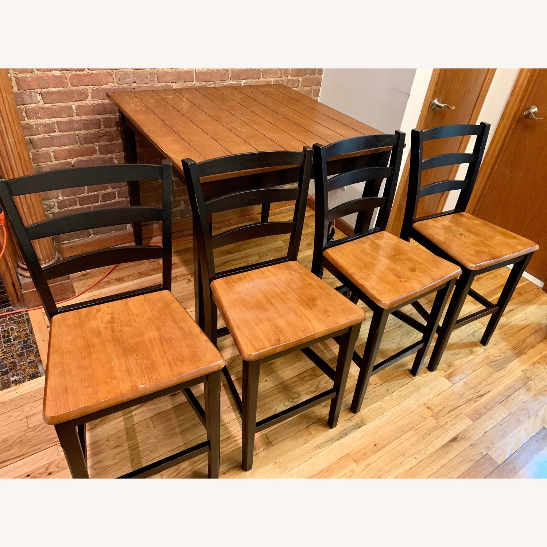 Kmart Dark Wood Black Dining Room Table Set Aptdeco