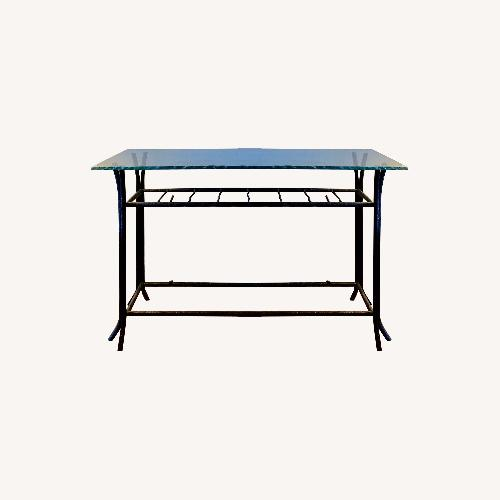 Used Vintage Mid-century Cast Iron Console Table for sale on AptDeco