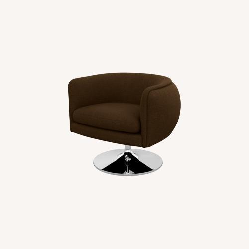 Used Knoll Brown D'Urso Swivel Chair Set for sale on AptDeco