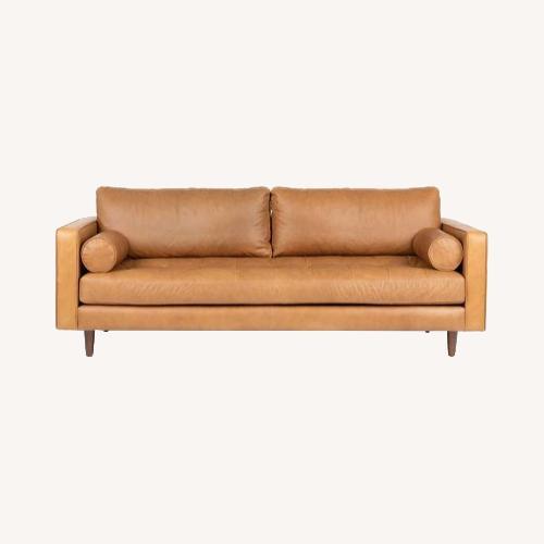 Used Article Sven Charme Tan Sofa for sale on AptDeco