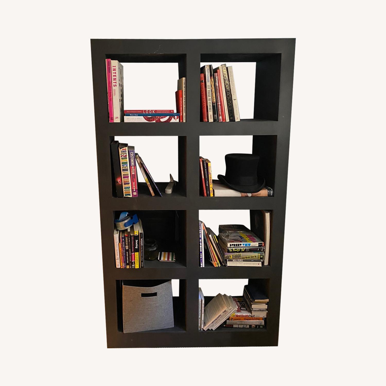 Crate & Barrel Contemporary Masculine Metal Bookcase - image-0