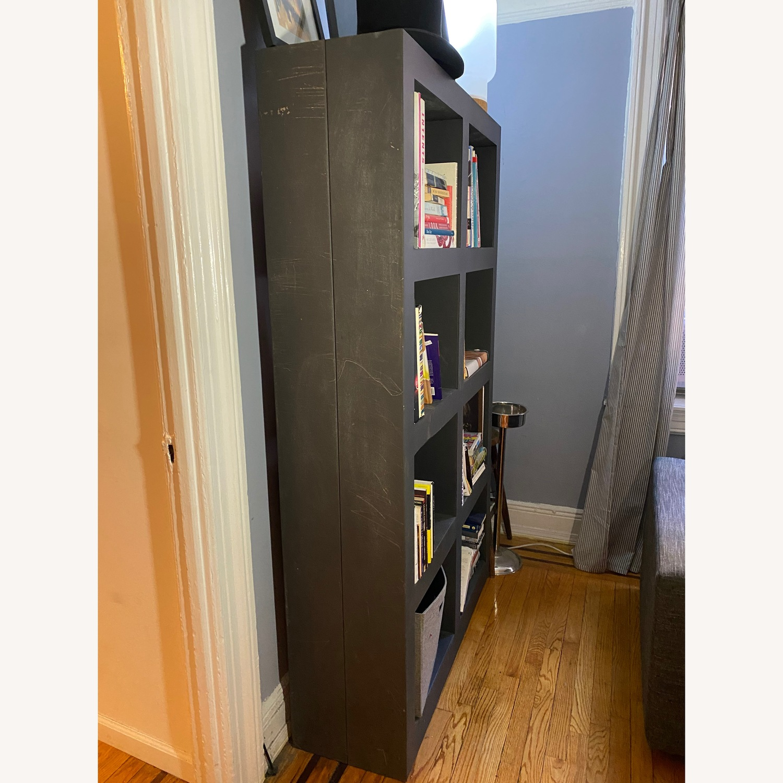 Crate & Barrel Contemporary Masculine Metal Bookcase - image-2