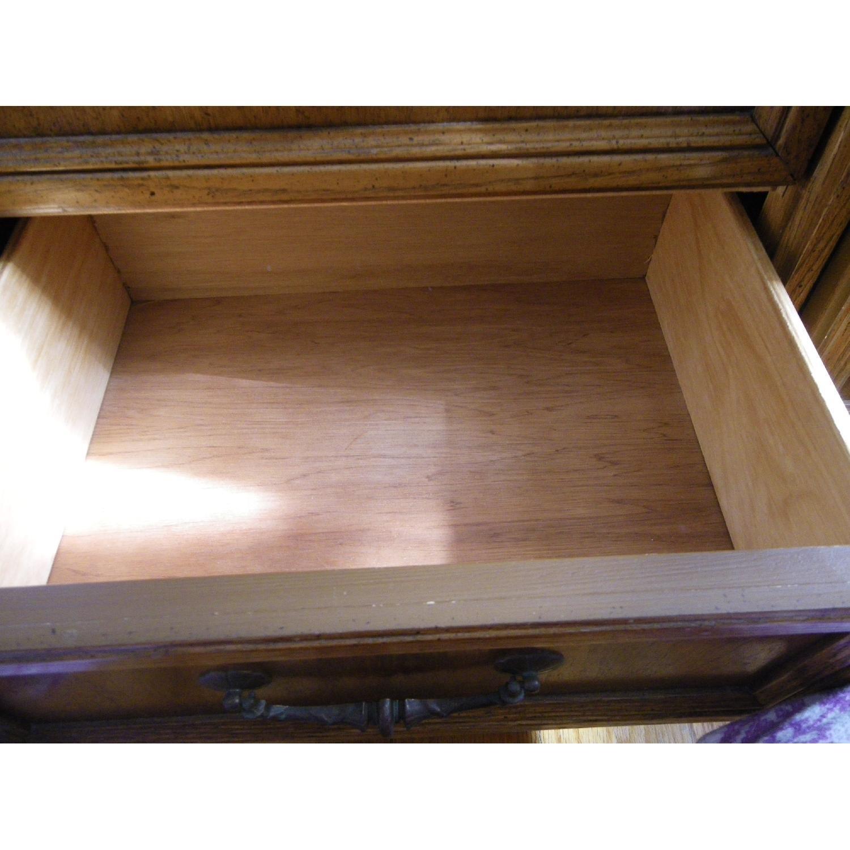 Vintage Oakwood Dresser with Foldable Mirrors - image-6