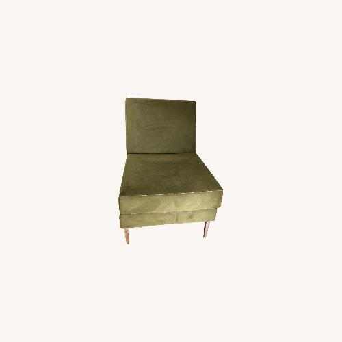 Used Design Within Reach Contempory Moss Green Chair for sale on AptDeco