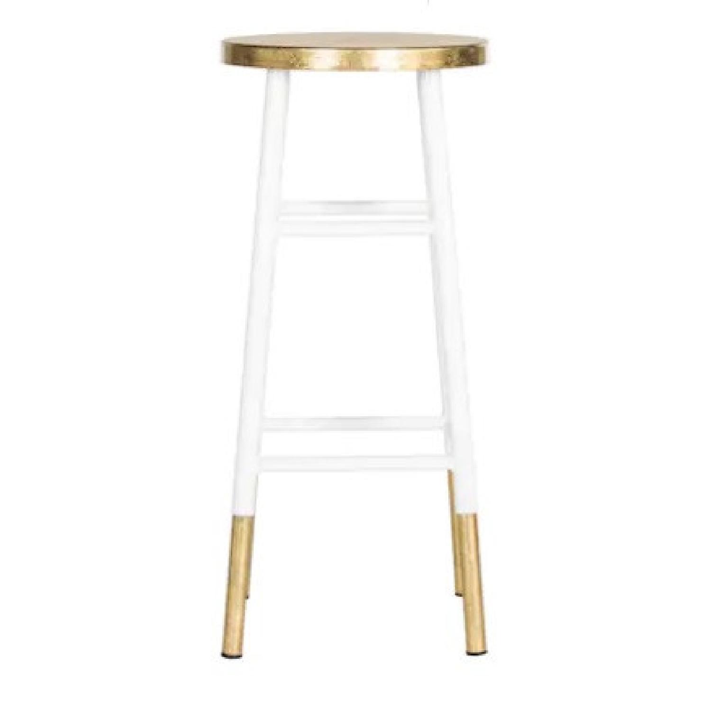 Safavieh White & Gold Bar Stools - image-0