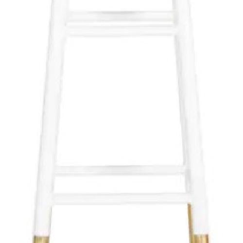 Used Safavieh White & Gold Bar Stools for sale on AptDeco