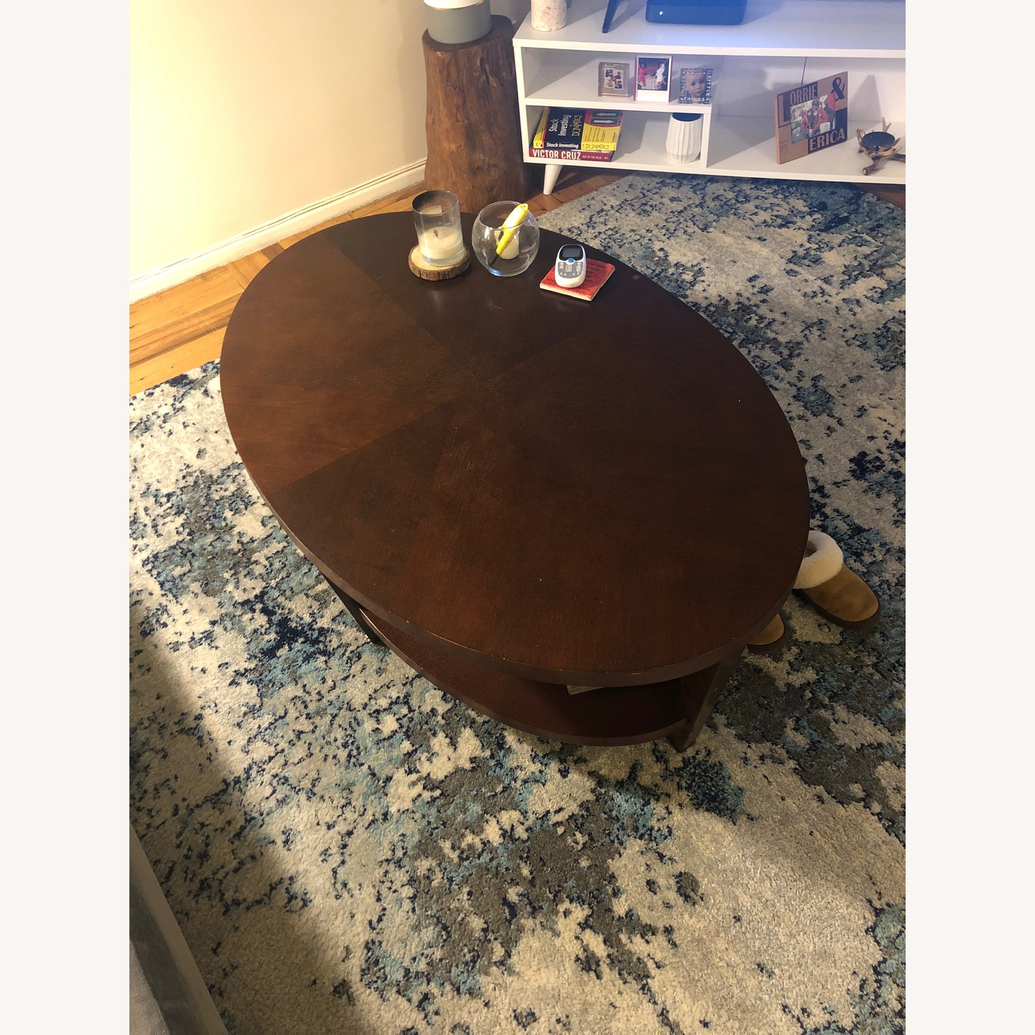 Crate & Barrel Wood Coffee Table - image-3