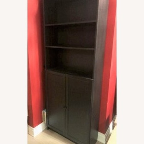 Used IKEA Billy 3-piece Bookcase with Half Closure for sale on AptDeco