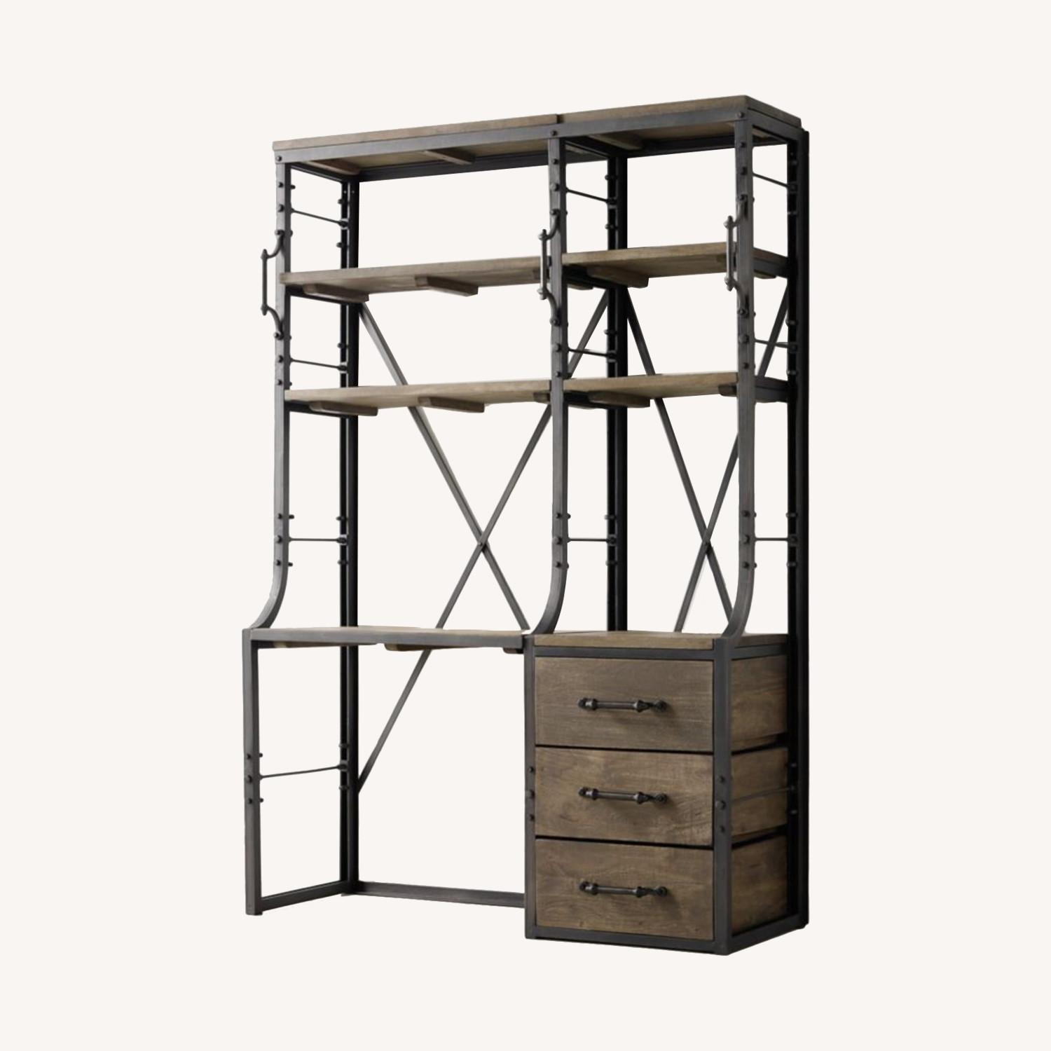 Restoration Hardware French Library Desk with Drawers - image-0