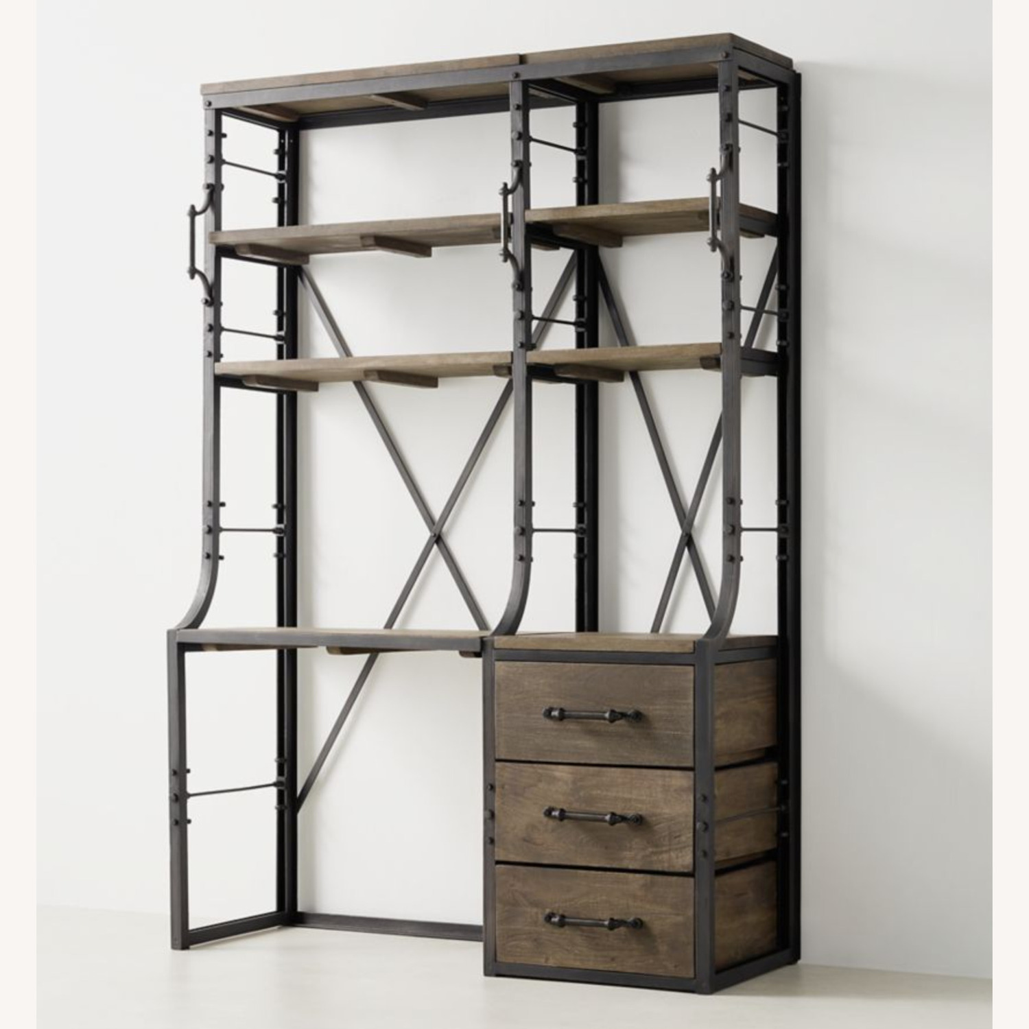Restoration Hardware French Library Desk with Drawers - image-2