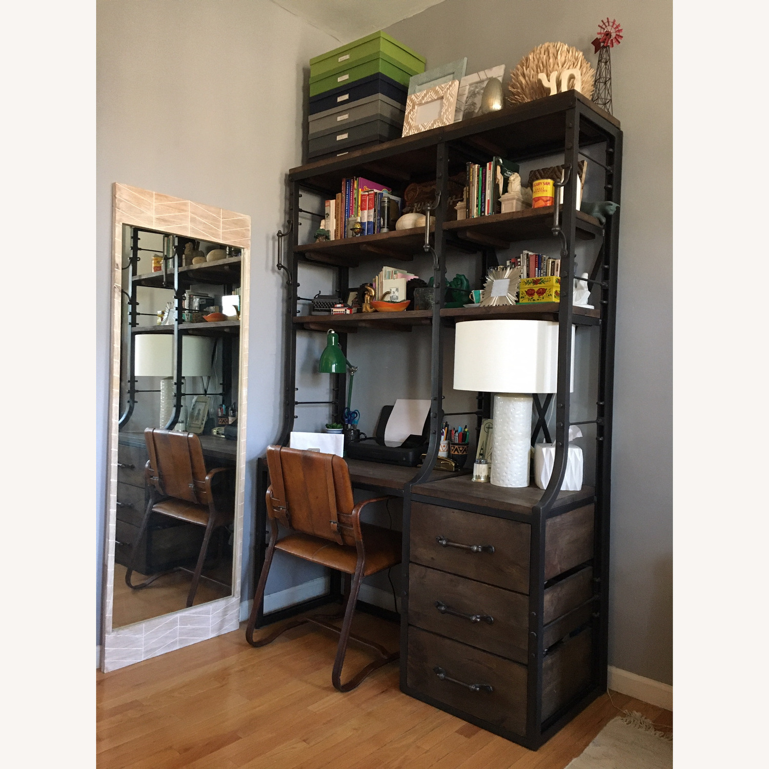 Restoration Hardware French Library Desk with Drawers - image-1