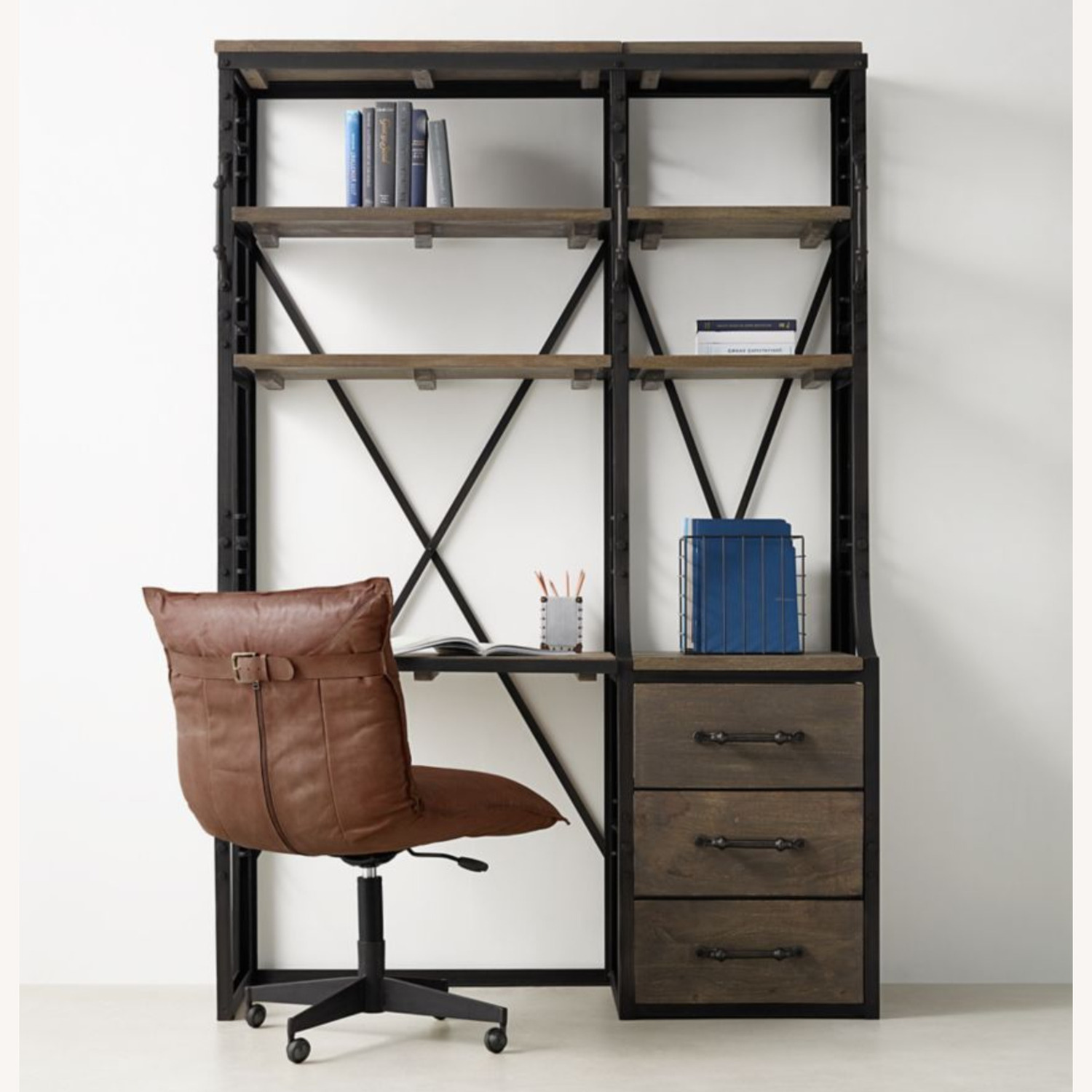 Restoration Hardware French Library Desk with Drawers - image-6