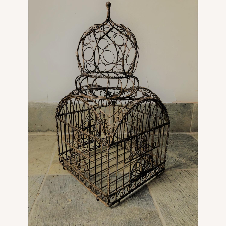 Vintage Ornate Brass Bird Cage - image-2