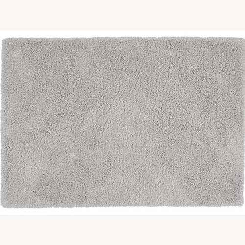 Used Crate & Barrel  Memphis II Light Grey Rug & Rug Pad for sale on AptDeco