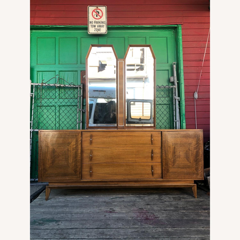 Mid Century Modern Lowboy Dresser with Mirrors - image-2