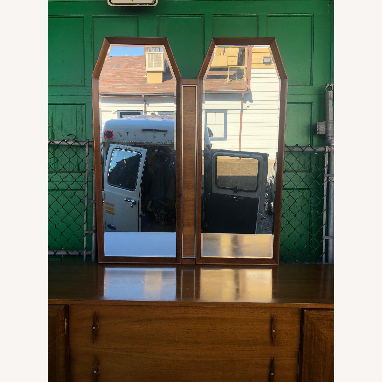 Mid Century Modern Lowboy Dresser with Mirrors - image-1
