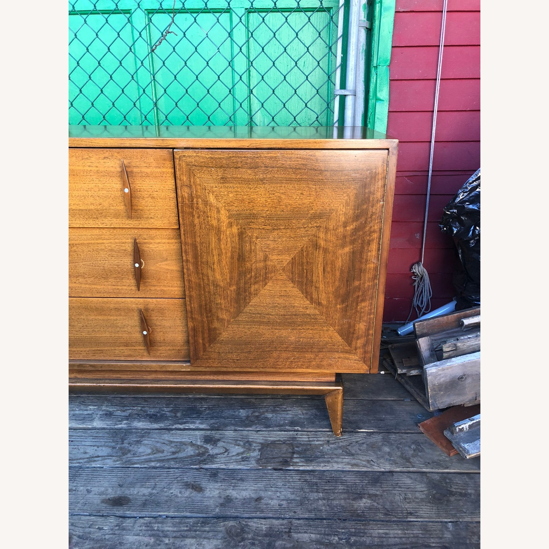 Mid Century Modern Lowboy Dresser with Mirrors - image-8
