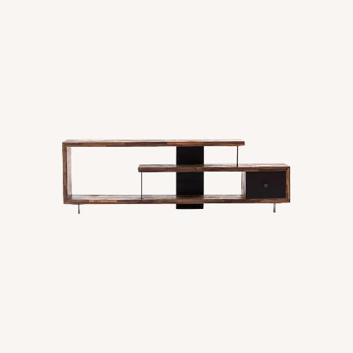 Used West Elm Staggered Wood Console for sale on AptDeco