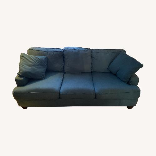 Used Jennifer Convertibles Aqua Couch for sale on AptDeco