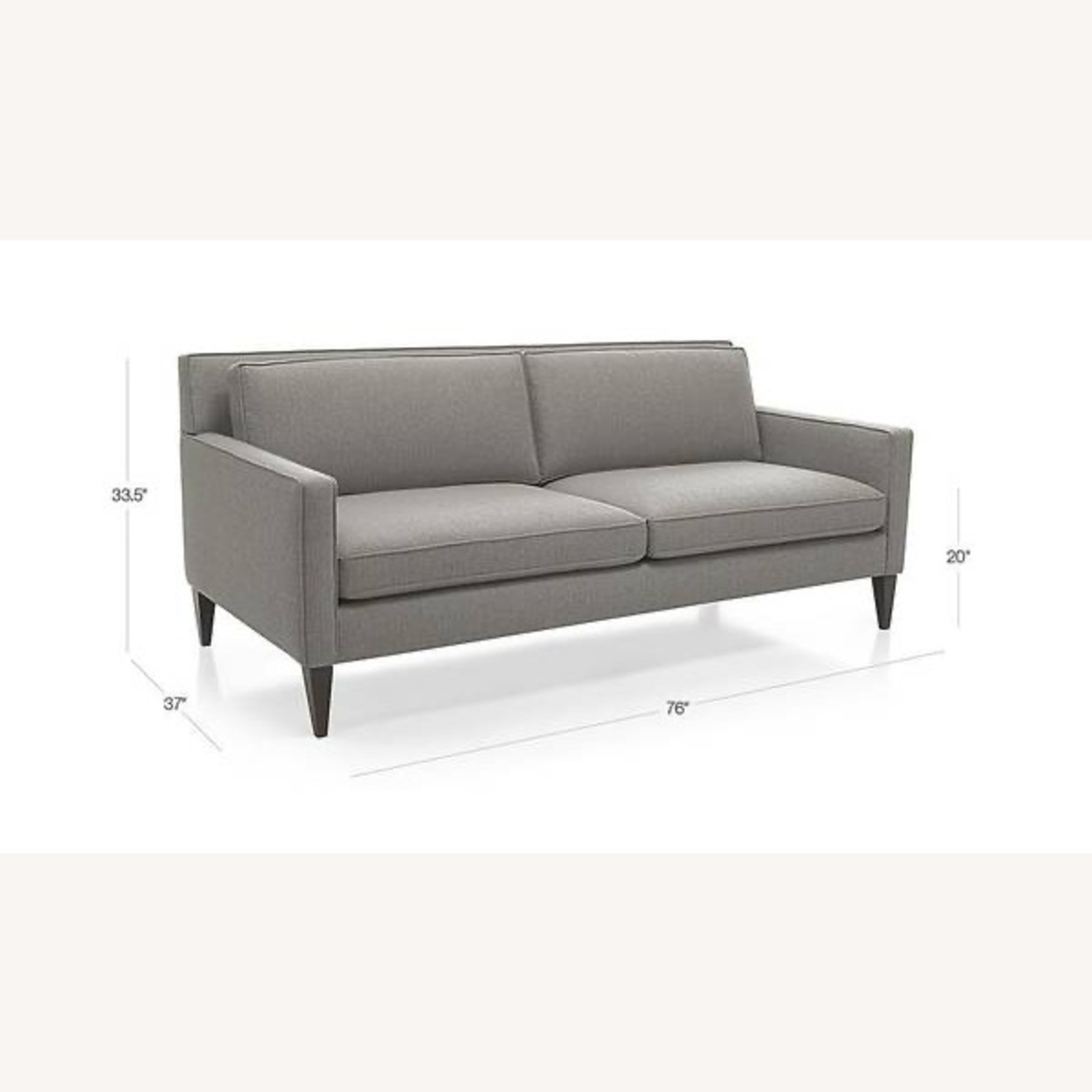 Crate & Barrel Rochelle Apartment Sofa - image-0