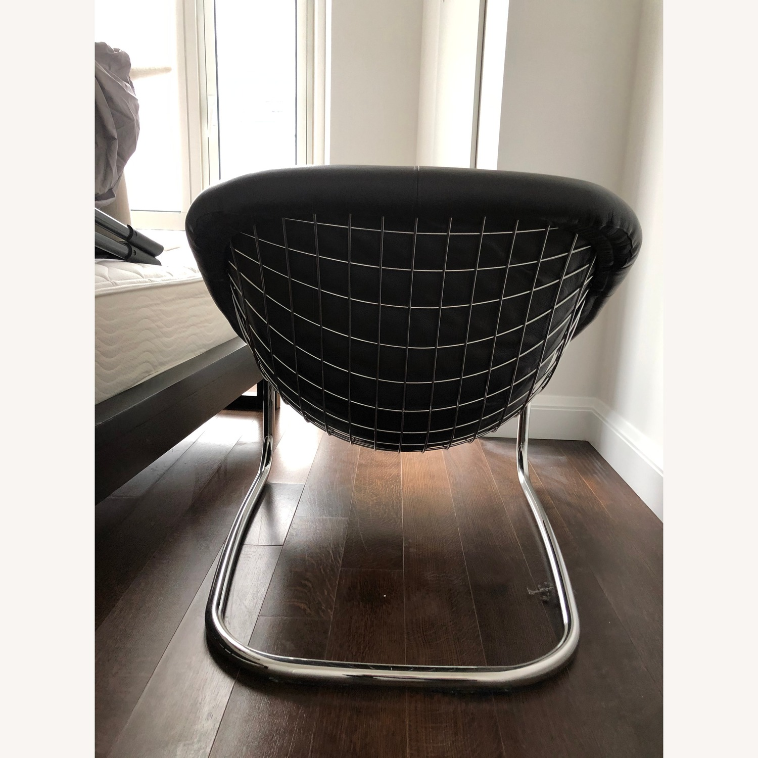 Gothic Cabinet Craft Modern Leather and Metal Chair - image-6