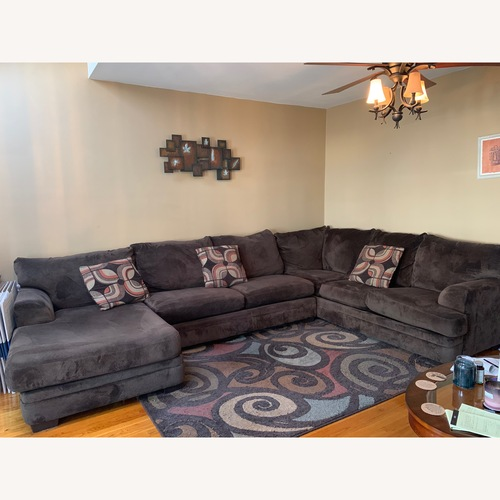 Used Bob's Discount Large Sectional Couch for sale on AptDeco