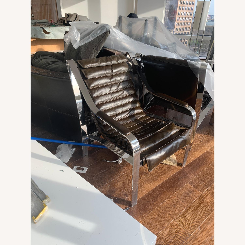 Arhaus Sling Back Leather Chair - image-1