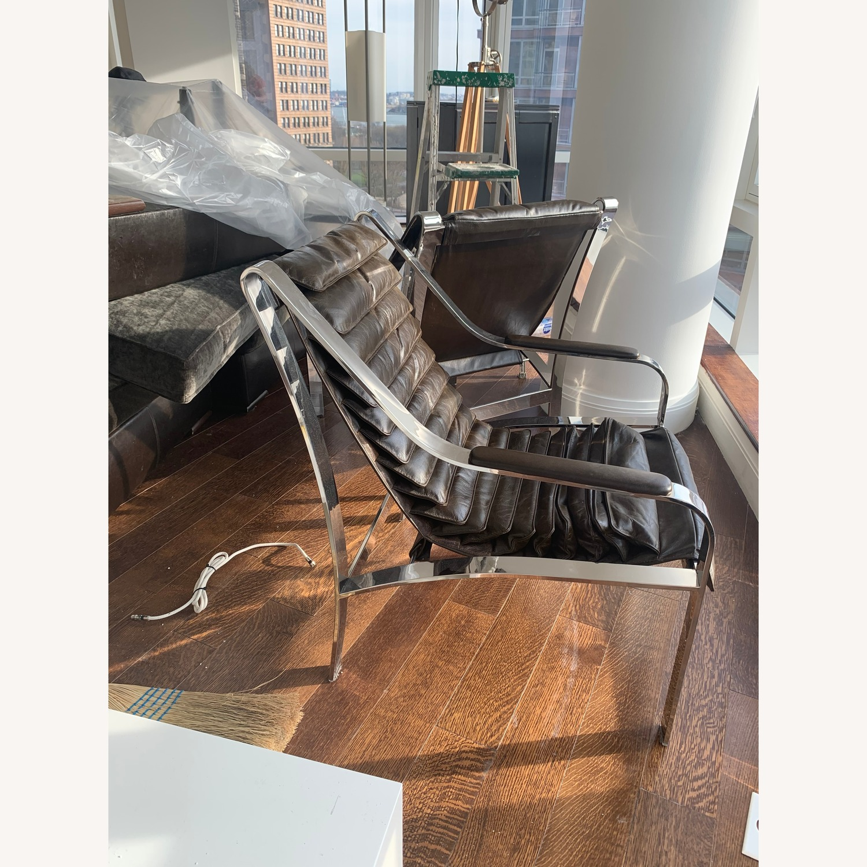 Arhaus Sling Back Leather Chair - image-2