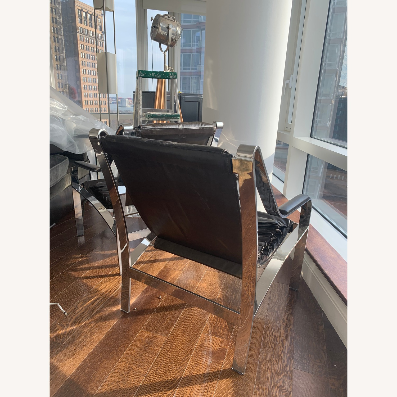 Arhaus Sling Back Leather Chair - image-3
