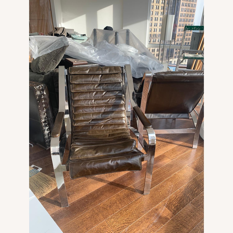 Arhaus Sling Back Leather Chair - image-4