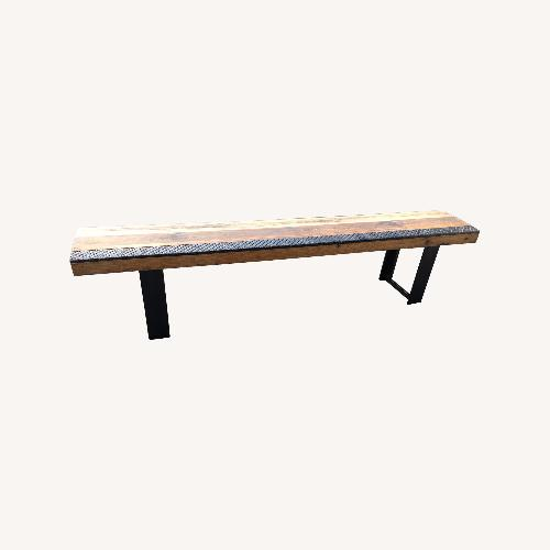 Used Taylor Made Rustic Reclaimed Wood Bench for sale on AptDeco