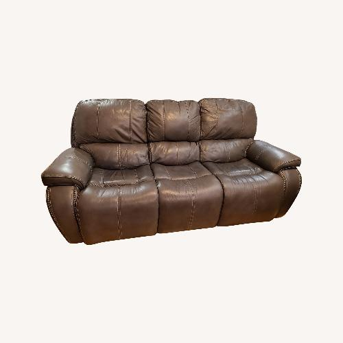 Used Raymour & Flanigan Leather 3 Seat Power Recliner for sale on AptDeco