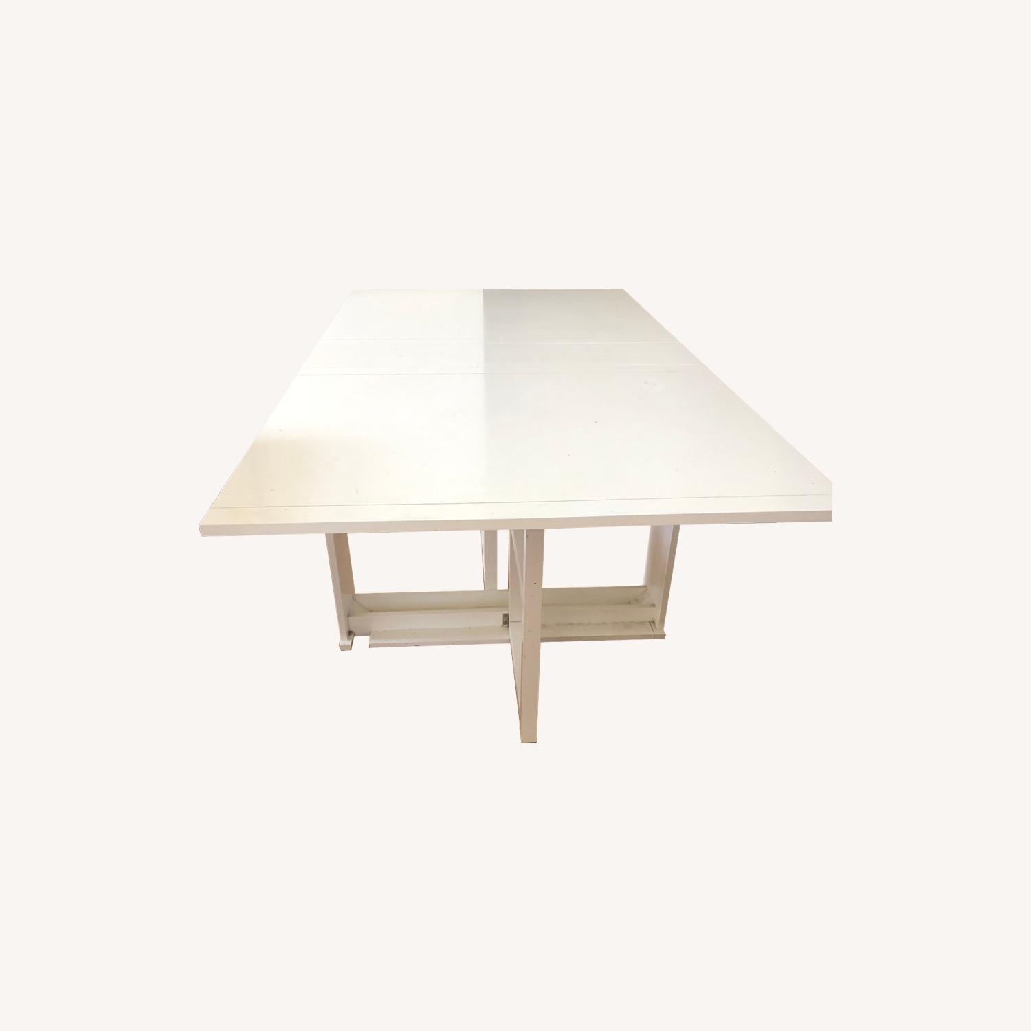 Crate & Barrel Foldable Dining Table - image-0