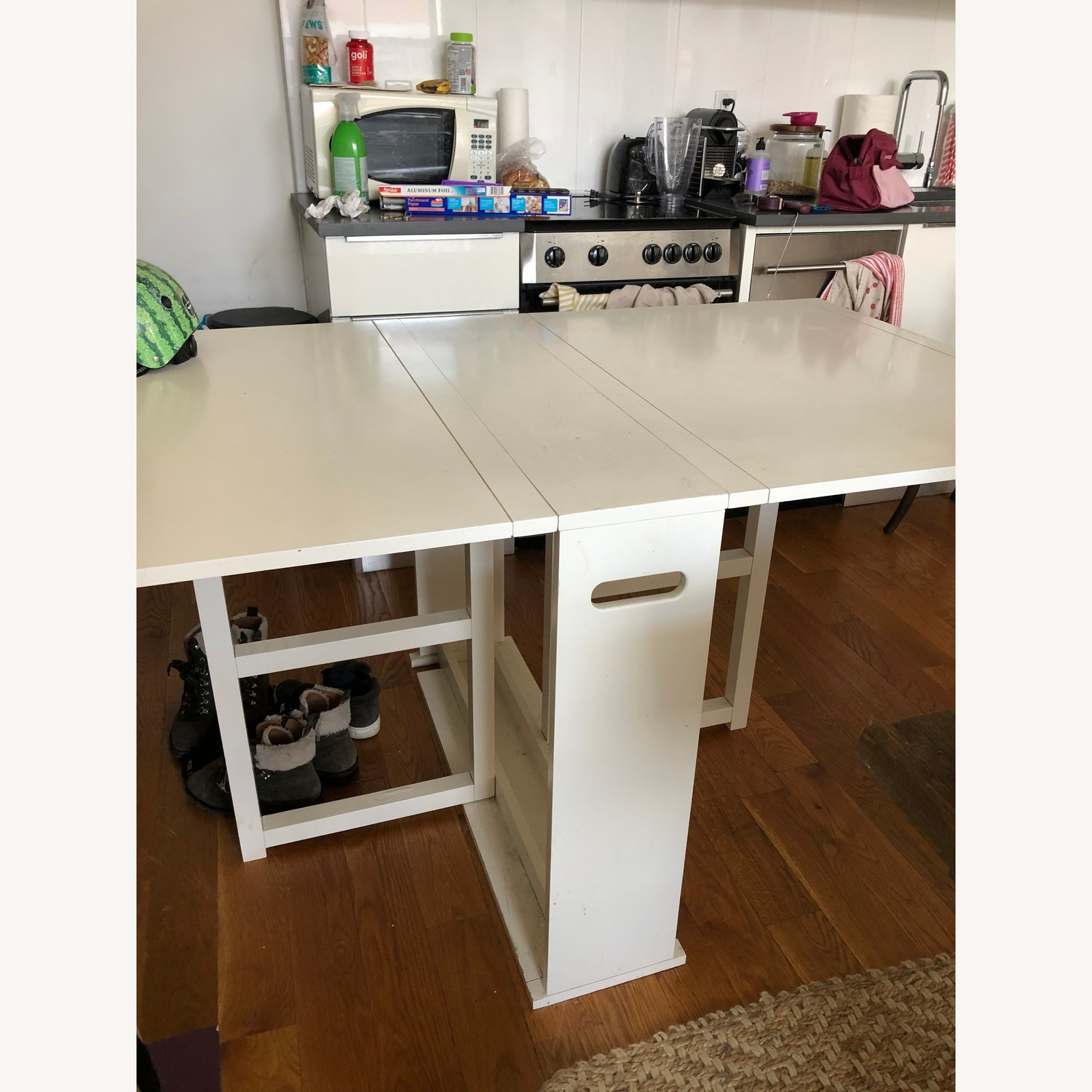 Crate & Barrel Foldable Dining Table - image-2