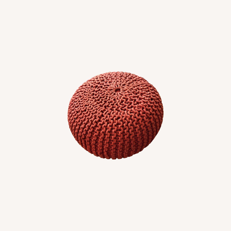 CB2 Knit Pouf - image-0