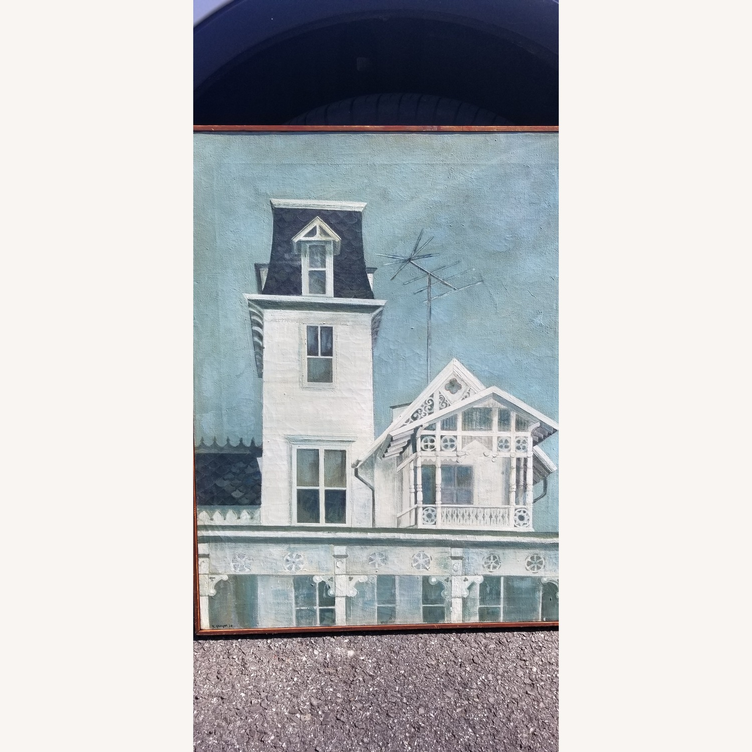 Oil on Canvas of Victorian House - image-1