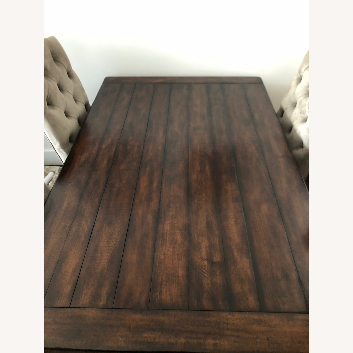 Crate & Barrel Dark Wood Table with Leaf - image-2
