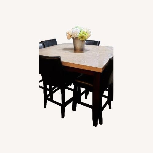 Used Bob's Discount Furniture Granite Dinning Set for sale on AptDeco