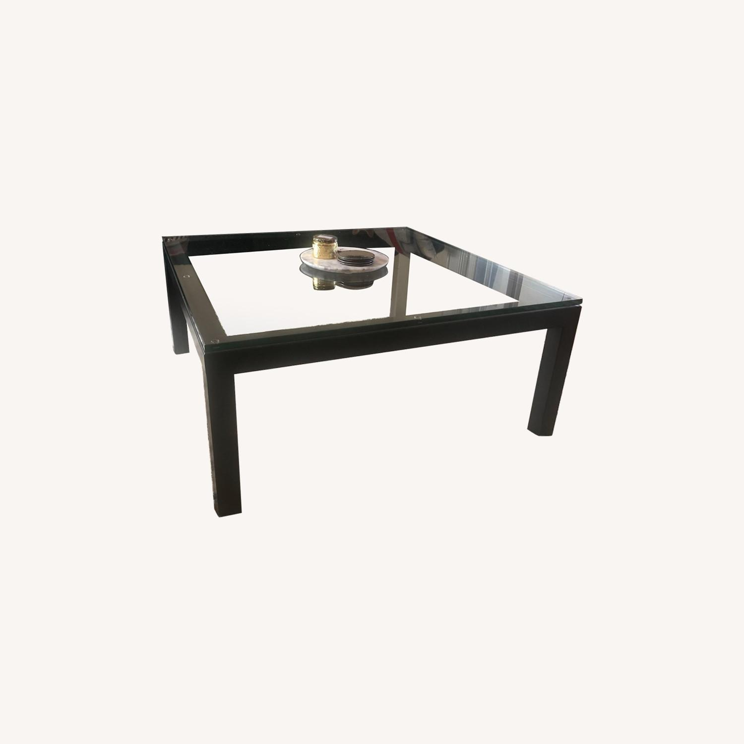 Crate & Barrel Sturdy & Elegant Glass Coffee Table - image-0