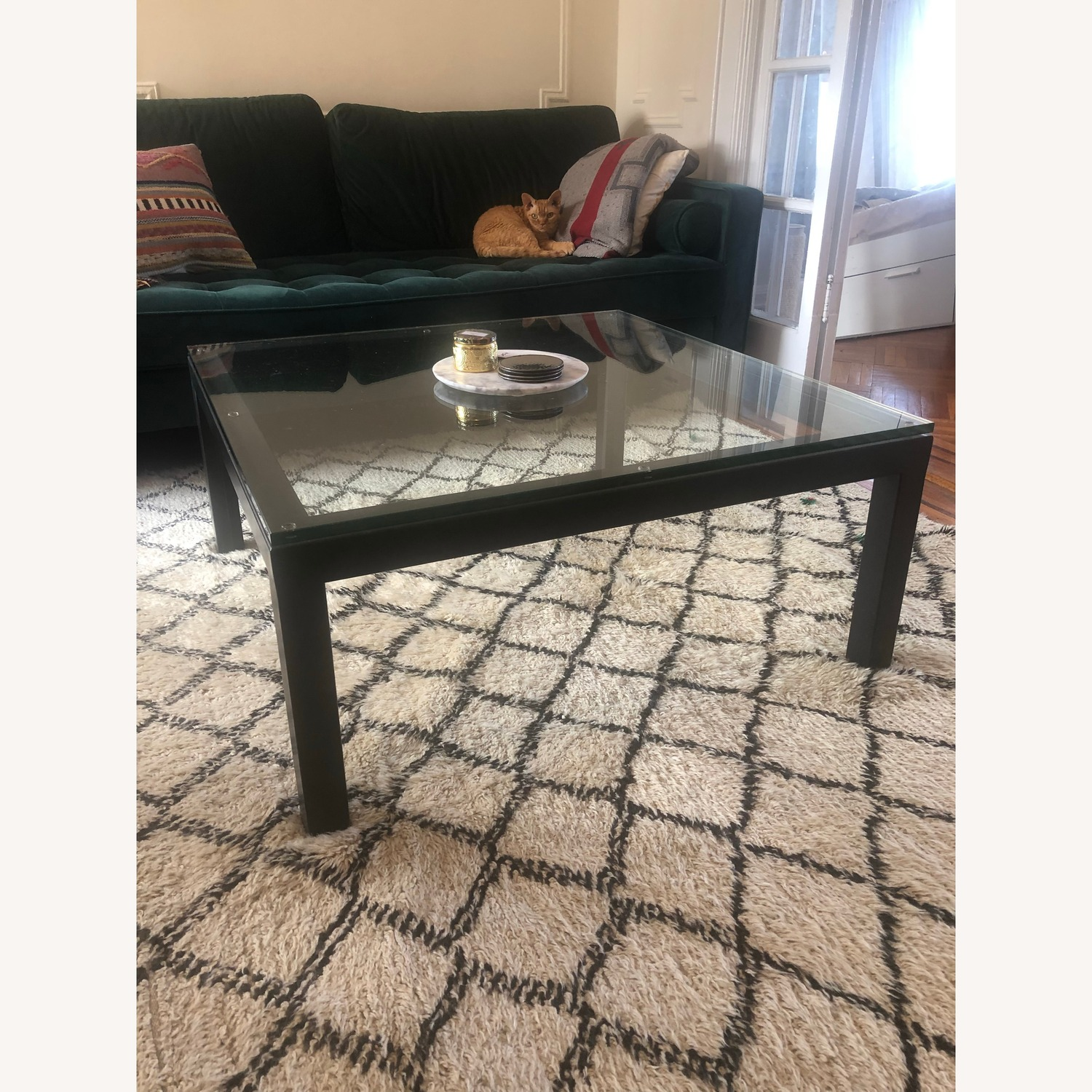 Crate & Barrel Sturdy & Elegant Glass Coffee Table - image-5