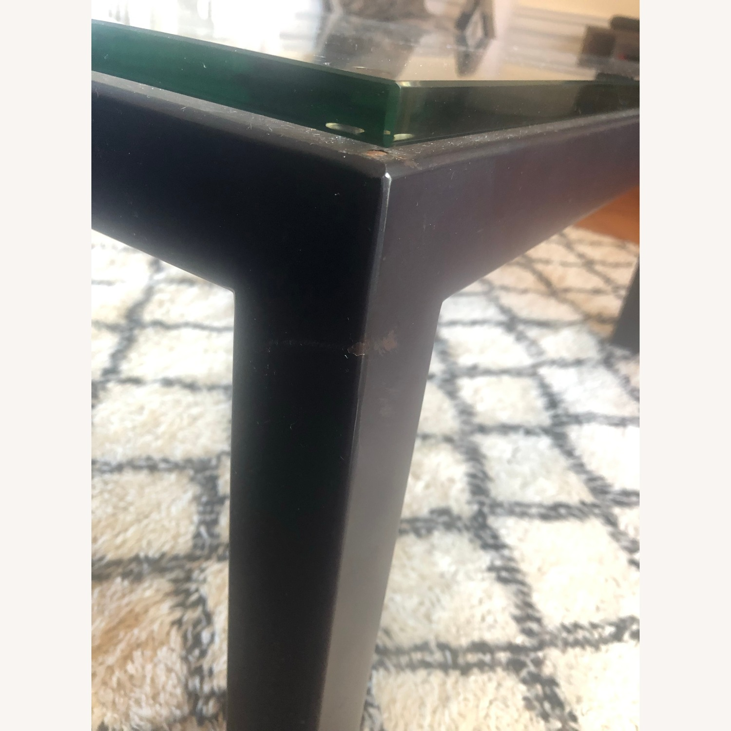 Crate & Barrel Sturdy & Elegant Glass Coffee Table - image-4