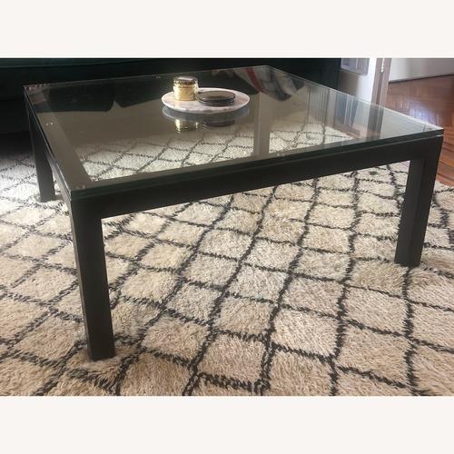 Used Crate & Barrel Sturdy & Elegant Glass Coffee Table for sale on AptDeco