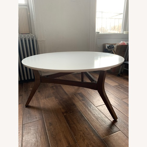 Used Target Mid-Century Style Round Coffee Table for sale on AptDeco