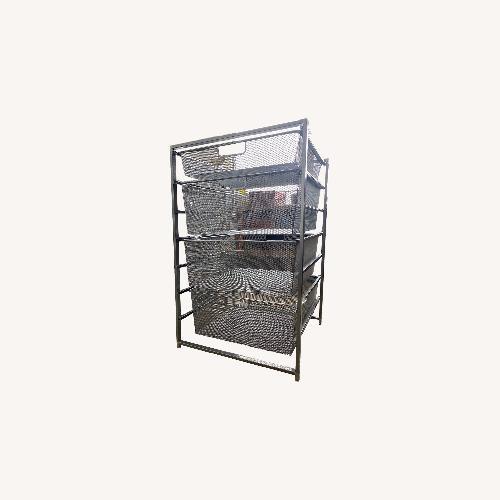 Used Container Store Elfa Mesh Shelf (4 Drawer) for sale on AptDeco