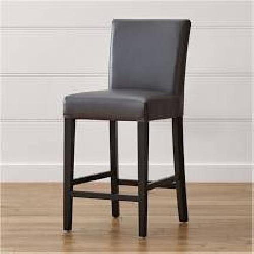 Used Crate & Barrel Grey/Gray Counter Chair/Stool for sale on AptDeco